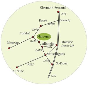 Plan d'accès Herbipôle Marcenat