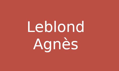 LEBLOND Agnès