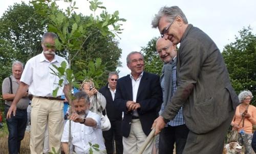 Wim Wenders plantant un arbre
