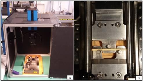 Banc d'essai micromécanique  avec contrôle vidéo
