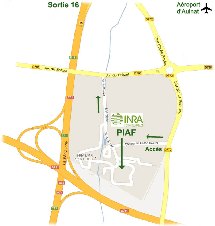 Plan du site INRA