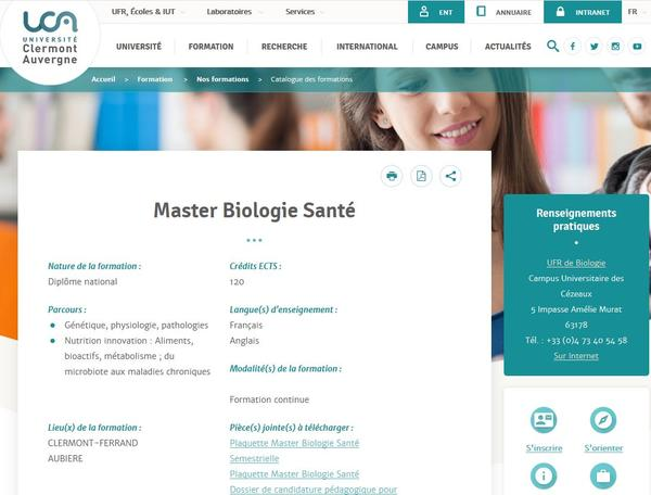 Master UCA Biol Santé